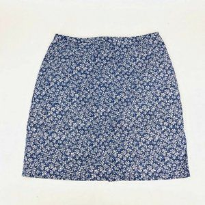 ❤️ Casual Corner Skirt Petite 6 Cotton Floral S